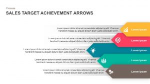 Sales Target Achievement Arrows PowerPoint Template and Keynote Slide