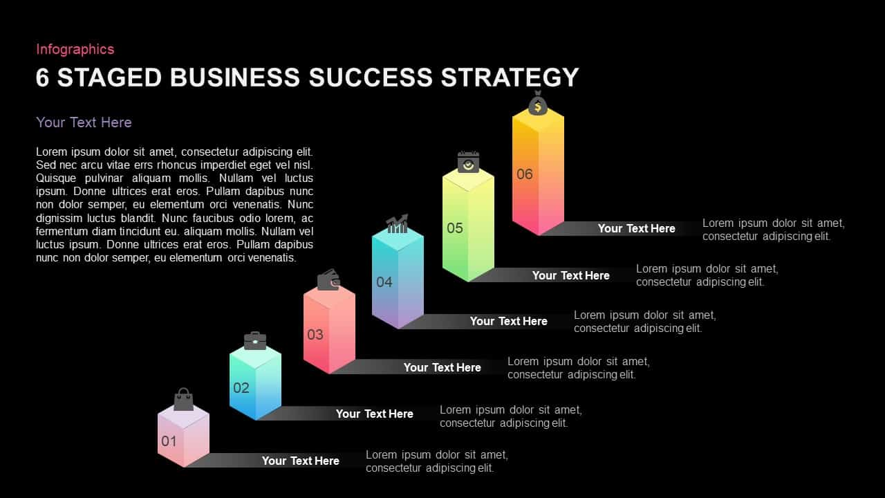 6 Stages Business Success Strategy Template for PowerPoint and Keynote