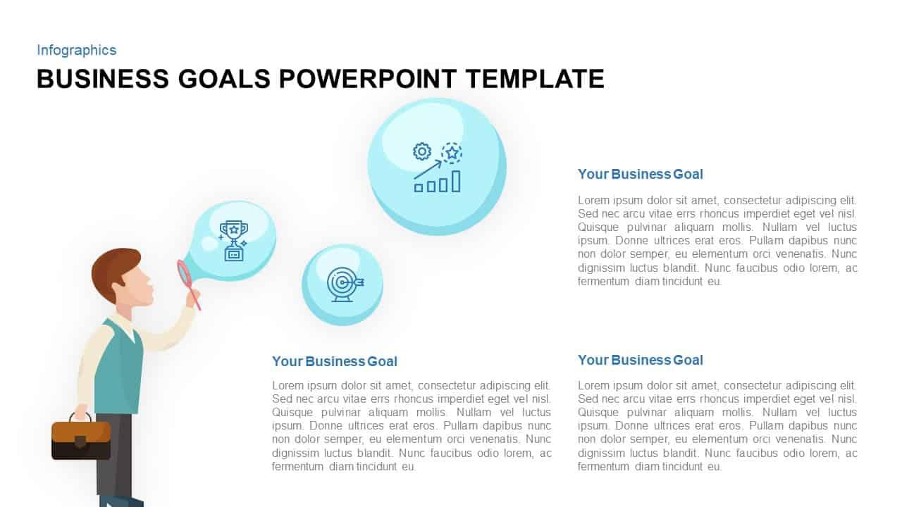 business goals powerpoint template and keynote slide. Black Bedroom Furniture Sets. Home Design Ideas