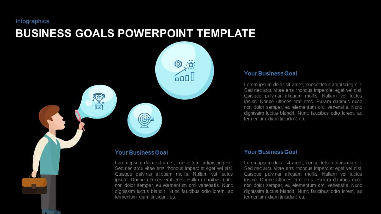 Business goals template for PowerPoint and Keynote