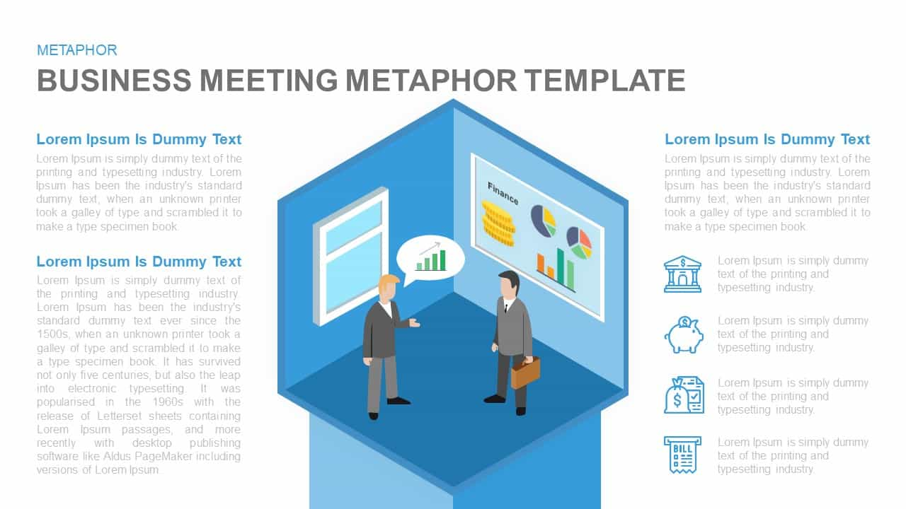 Business meeting PowerPoint template and Keynote