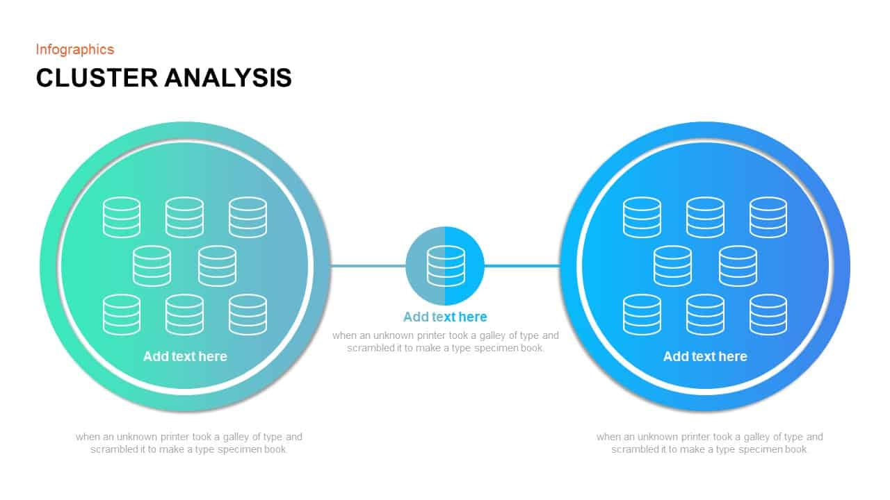 Cluster analysis PowerPoint template and Keynote