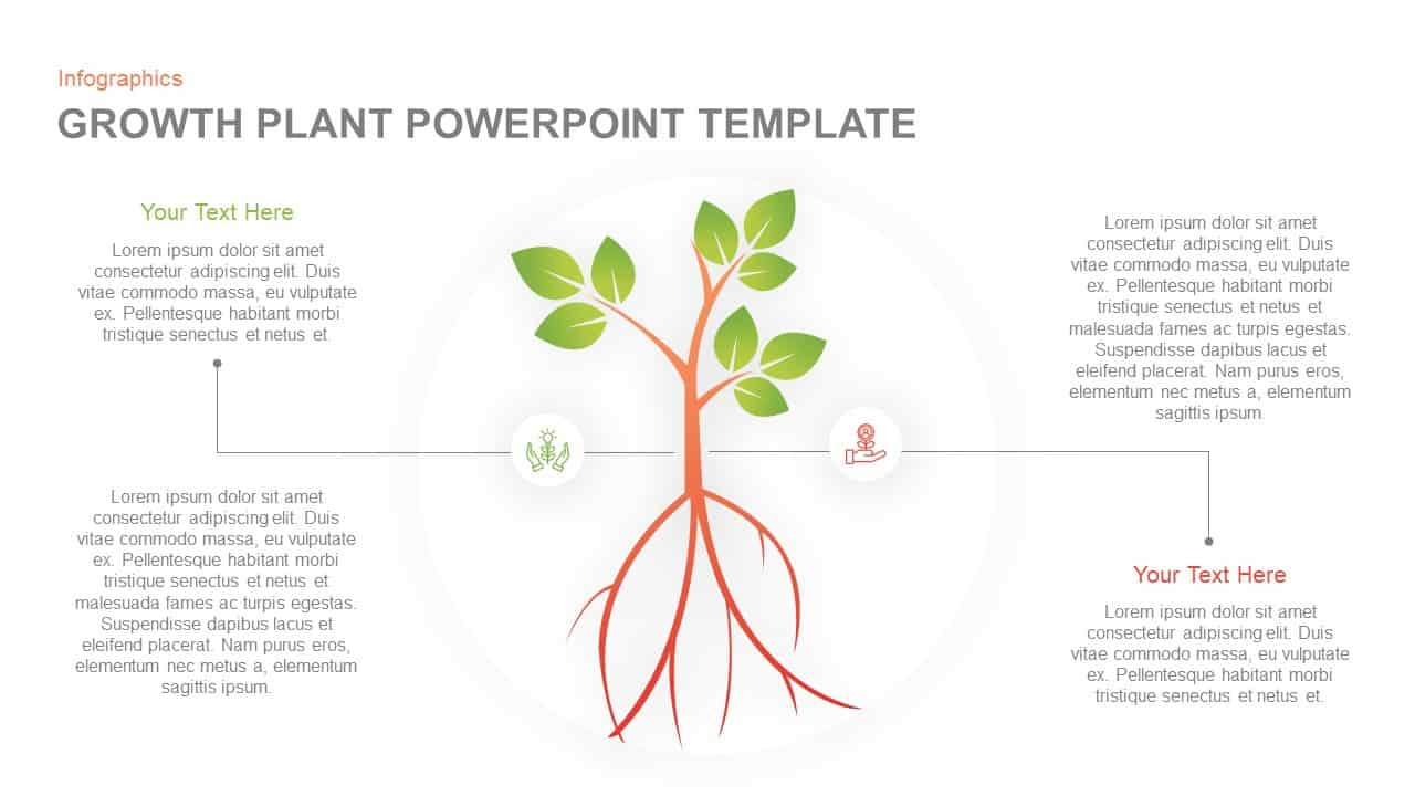 Plant growth PowerPoint template and keynote