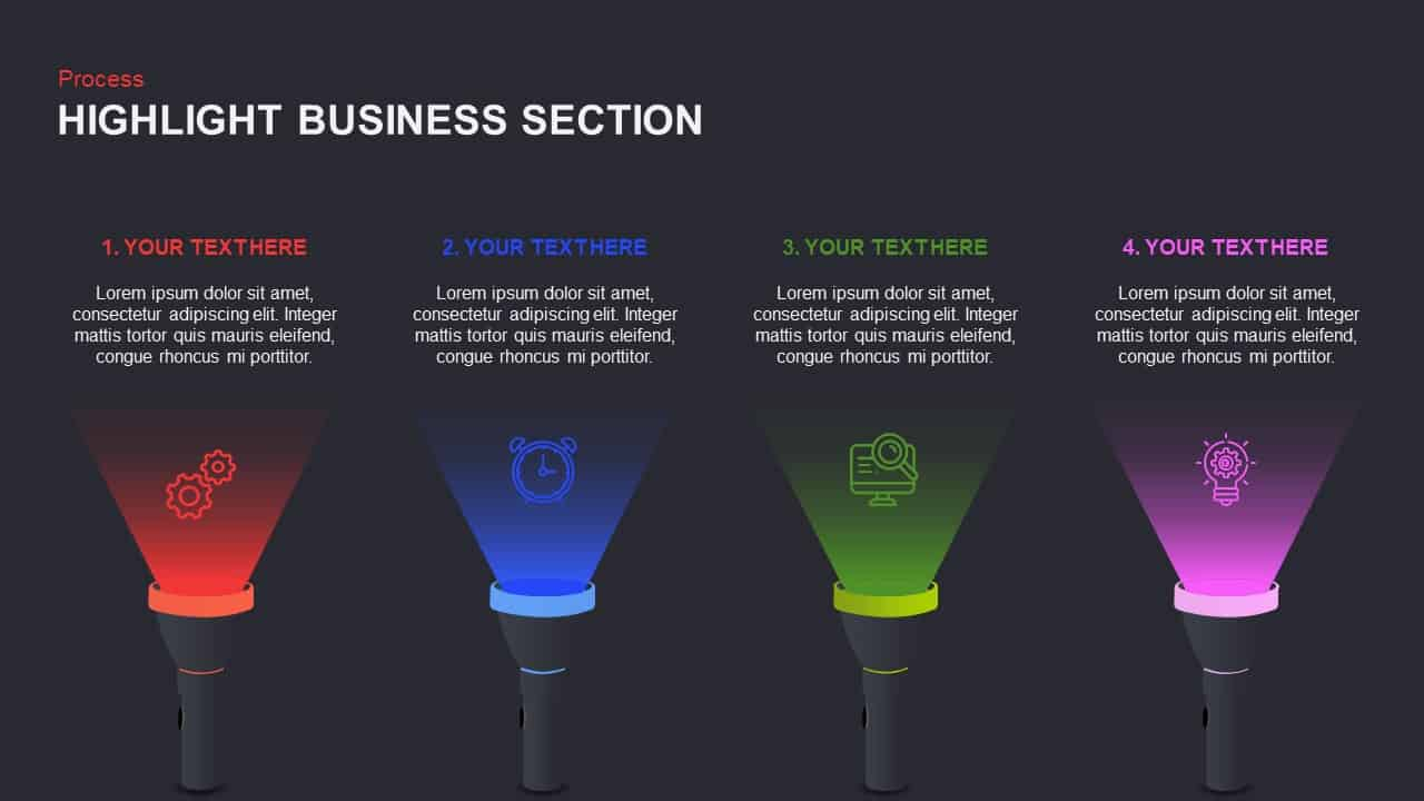 Highlight PowerPoint Templates and Keynote for Business Section