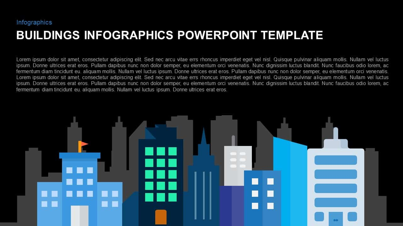 Infographic building template for PowerPoint and Keynote