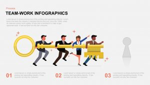 Infographic Teamwork PowerPoint Template and Keynote Slide