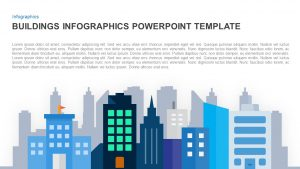 Infographics Building PowerPoint Template and Keynote Slide