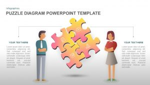 Puzzle PowerPoint Template Diagram and Keynote Slide