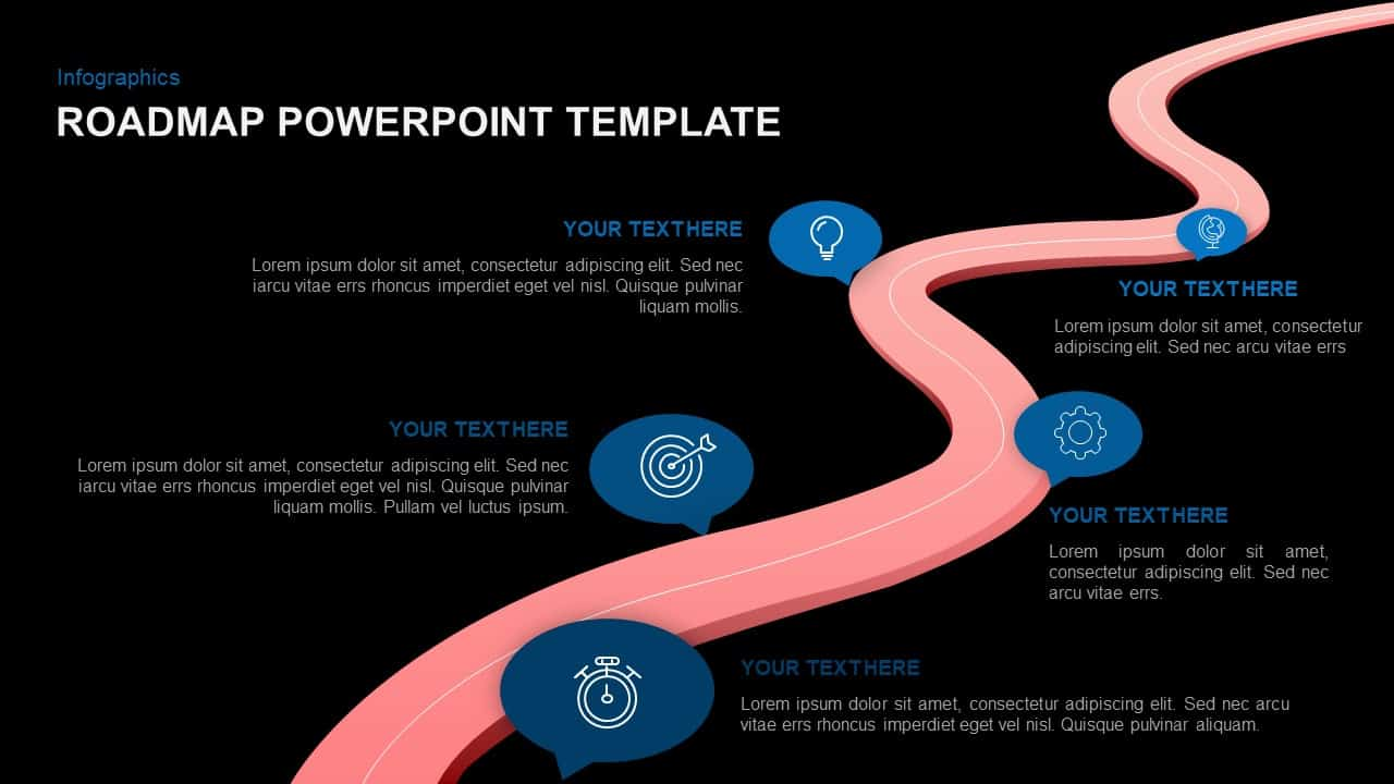 Roadmap template for PowerPoint and Keynote