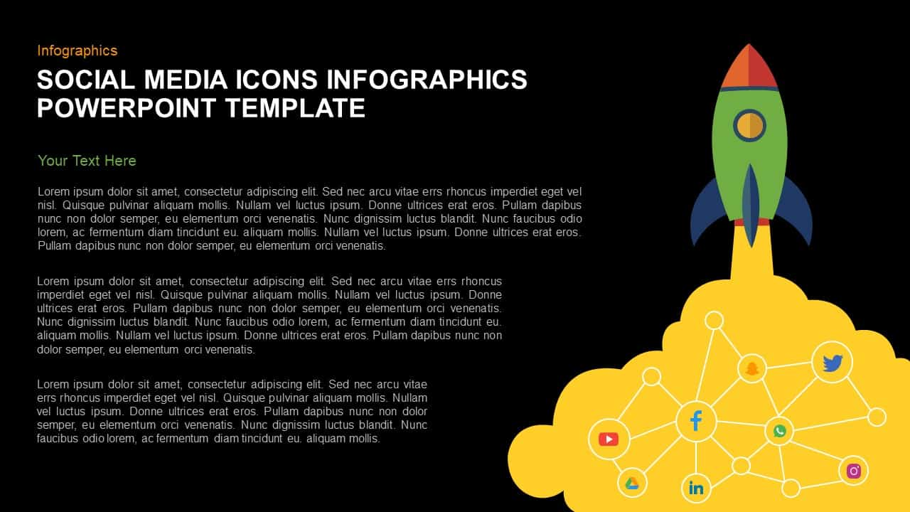 Social Media Icons for PowerPoint Infographics Presentation