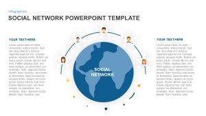 Social Network PowerPoint Template and Keynote Slide