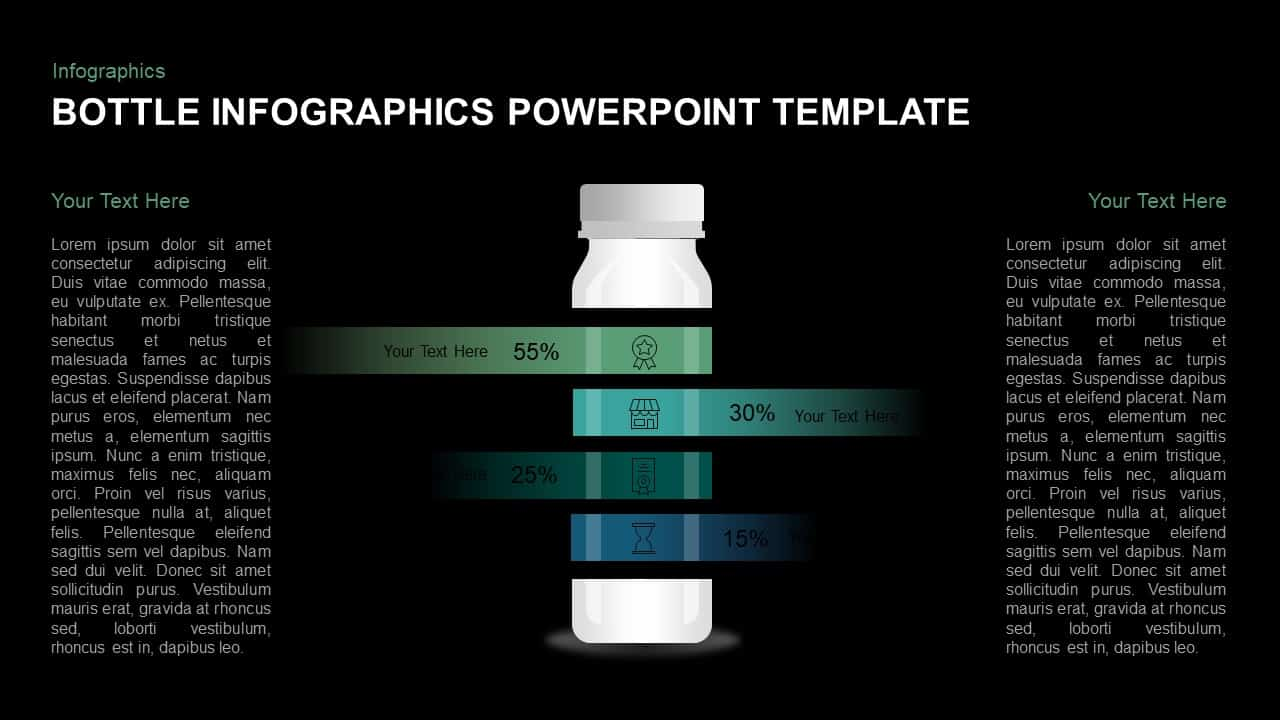 Bottle template for PowerPoint and keynote slide presentation
