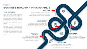 Business Roadmap Infographics PowerPoint Template and Keynote Slide