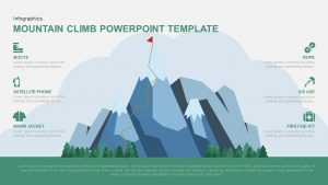 Mountain Climbing PowerPoint Template and Keynote Slide