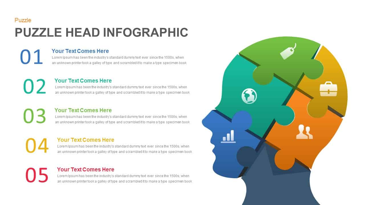 human head puzzle powerpoint template and keynote slide. Black Bedroom Furniture Sets. Home Design Ideas