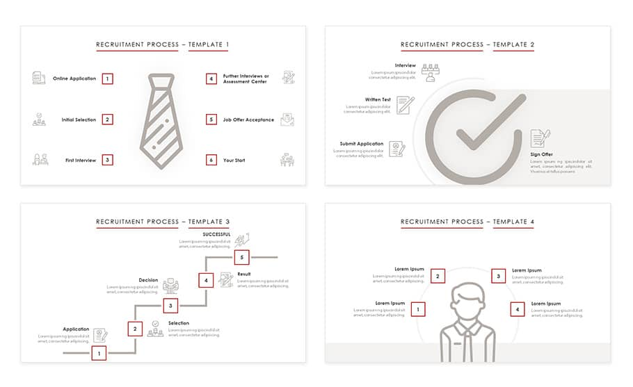 Recruiting process powerpoint presentation template