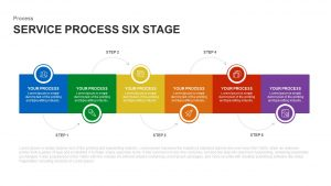 6 Stage Service Process Template for PowerPoint and Keynote