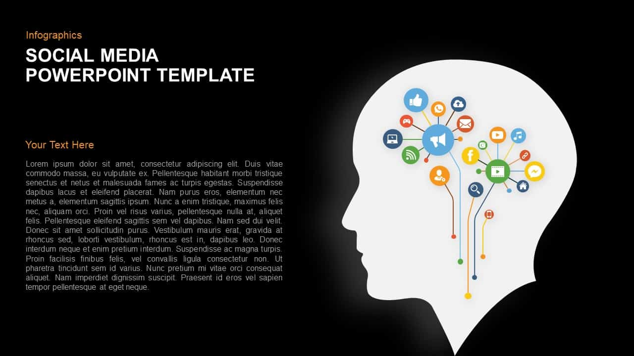 Social media infographics powerpoint template and keynote slide