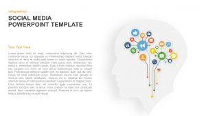 Infographics Social Media PowerPoint Template and Keynote Slide