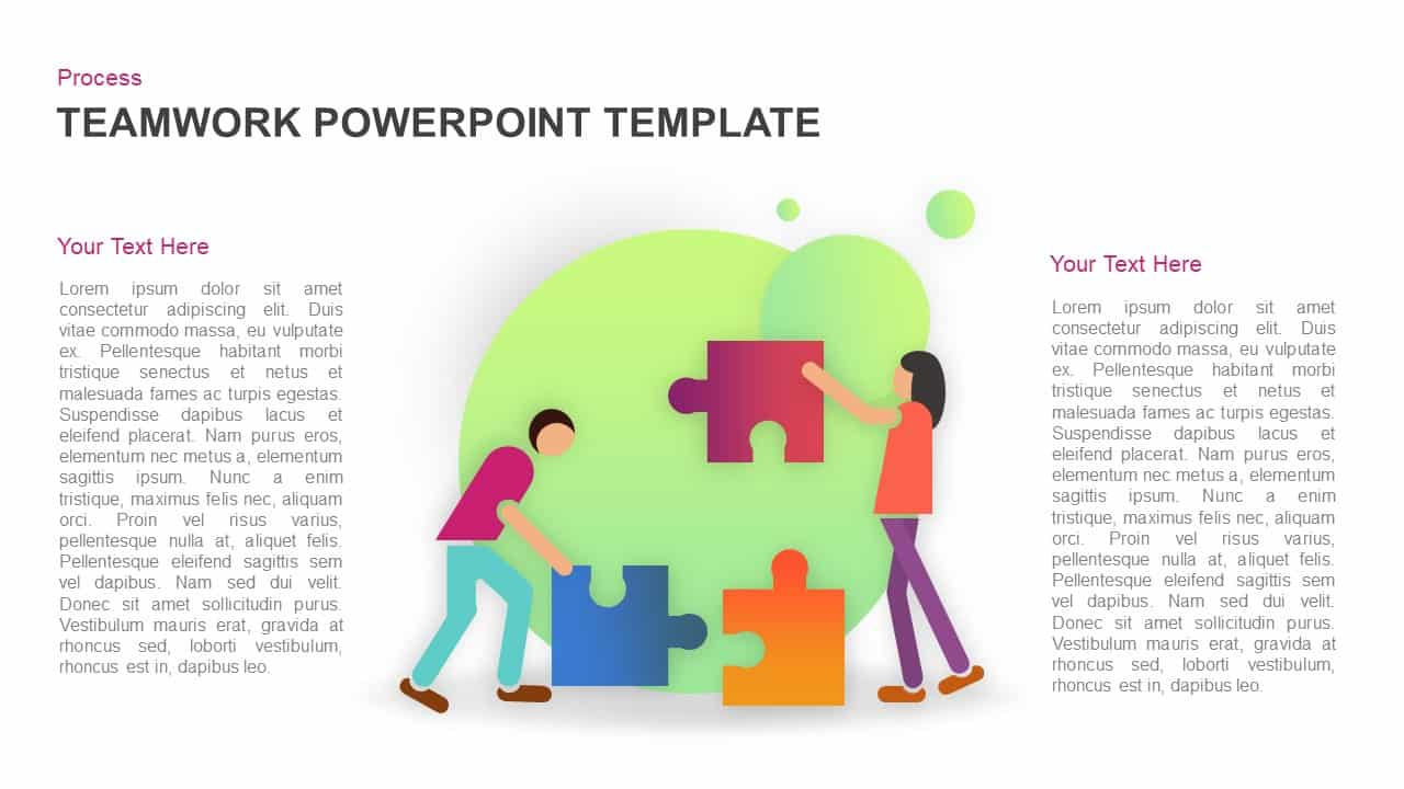 Teamwork puzzle PowerPoint template