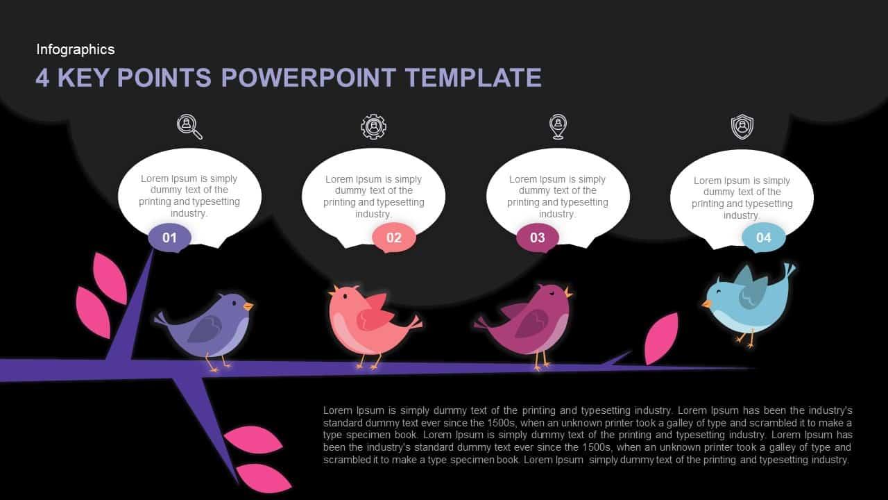 4 Key Points Keynote Template