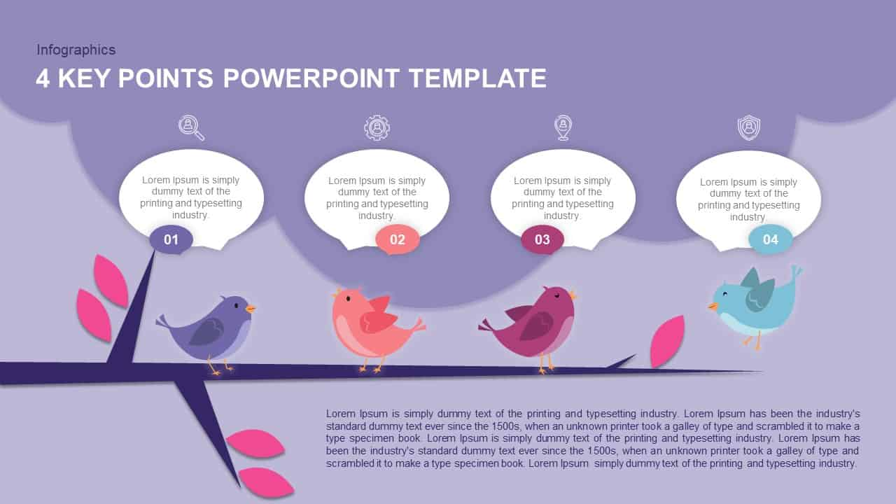 4 Key Points PowerPoint Template