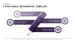 4 Step Infographic Pencil Template for PowerPoint and Keynote
