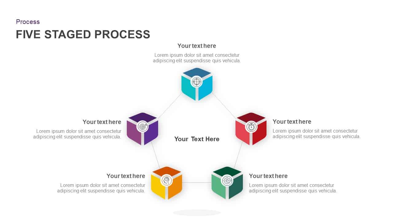 5 Stage Process Circular Diagram PowerPoint Template
