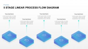 5 Stage Linear Process Flow Diagram Template