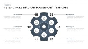 6 Steps Circle Diagram PowerPoint Template