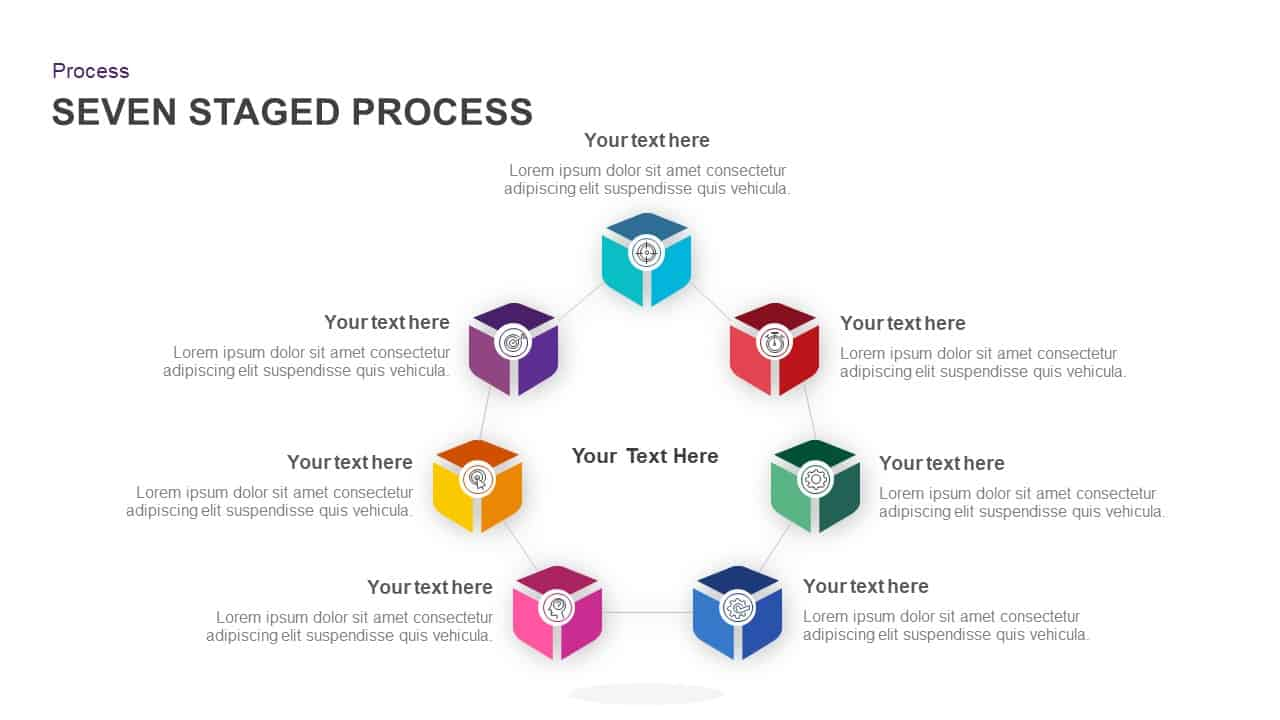 7 Stage Process Circular Diagram PowerPoint Template
