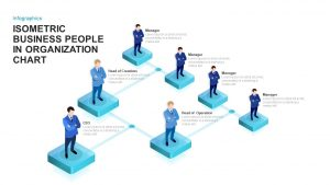 Isometric Business People Organization Chart Template for PowerPoint and Keynote