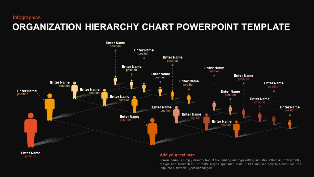 Organization Hierarchy Chart PowerPoint Template and Keynote