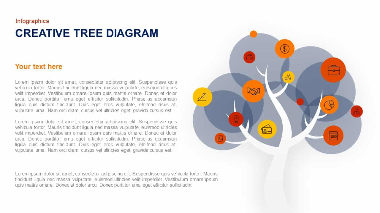 Creative Tree Diagram Template For Powerpoint And Keynote