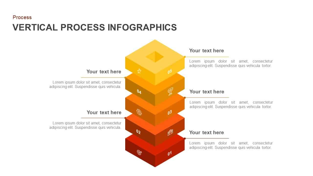 vertical process PowerPoint template an keynote