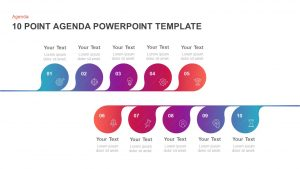 10 Point Agenda PowerPoint Template & Keynote Diagram