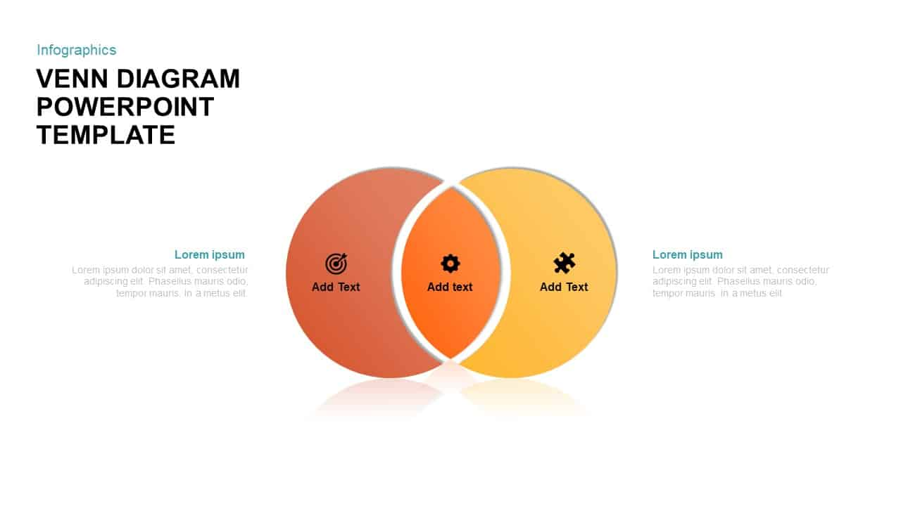2 circle venn diagram powerpoint template