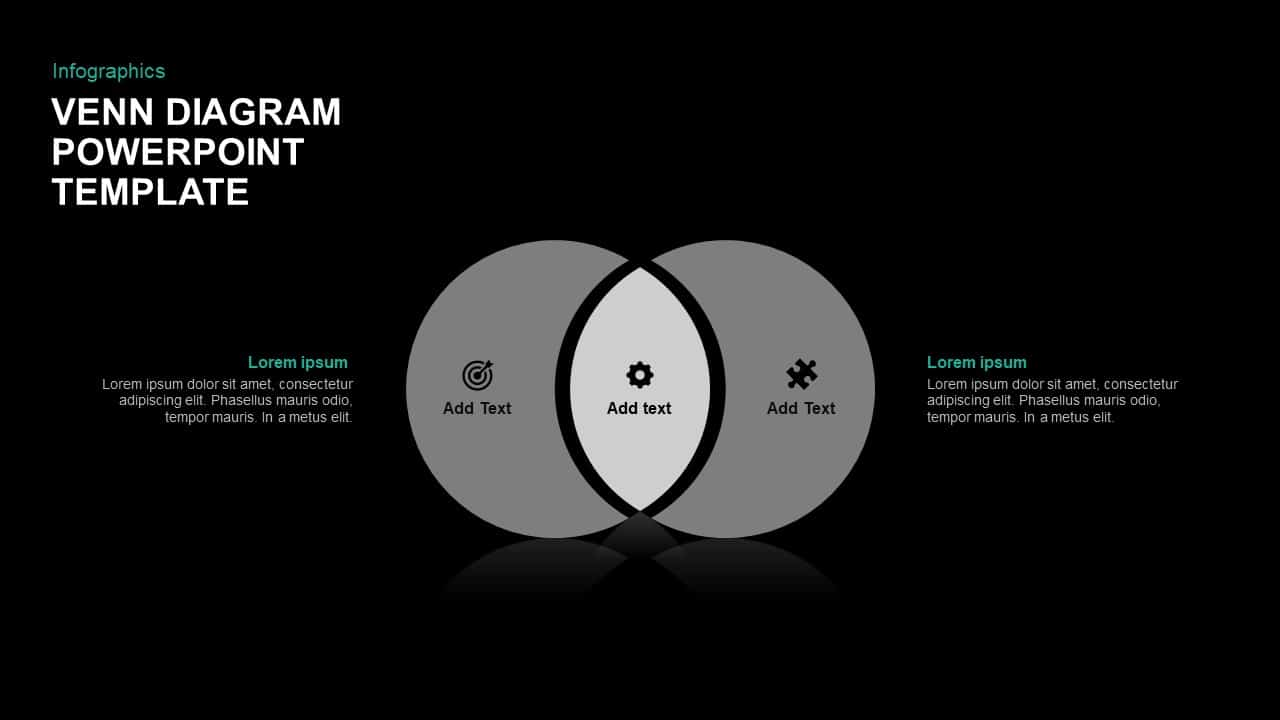 2 circle venn diagram template for powerpoint