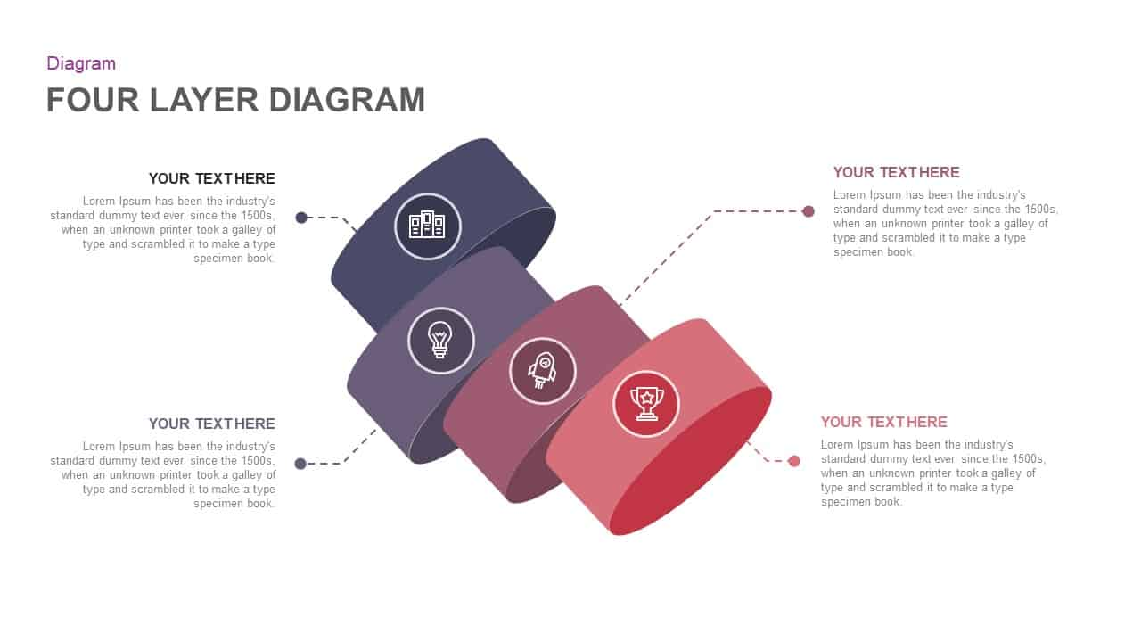 4 layer ring diagram PowerPoint template and keynote
