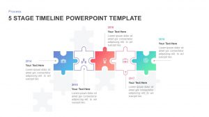 5 Stage Timeline Template for PowerPoint and Keynote
