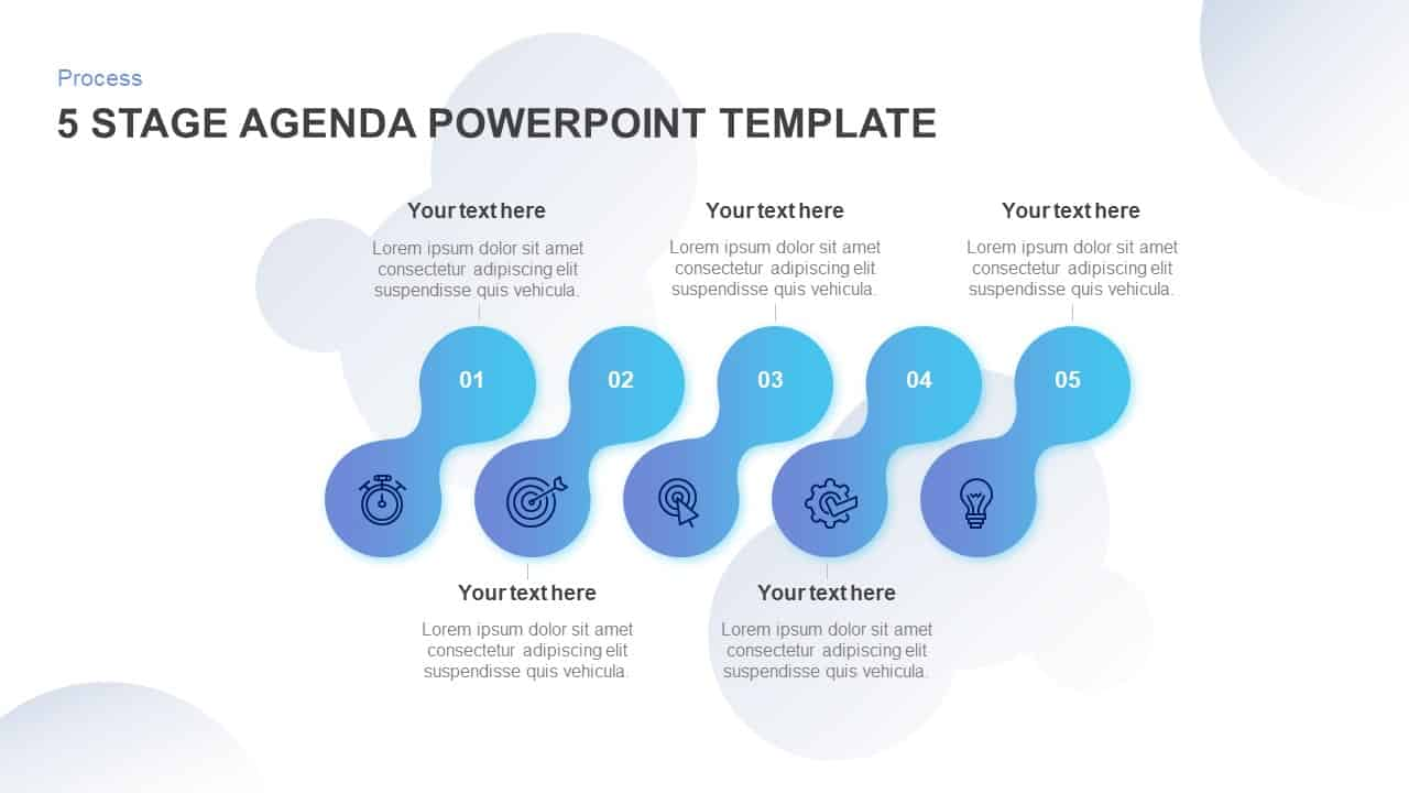 5 Step Agenda PowerPoint Template and keynote
