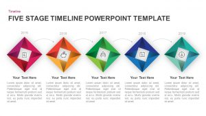 5 Step Timeline Template for PowerPoint and Keynote Diagram