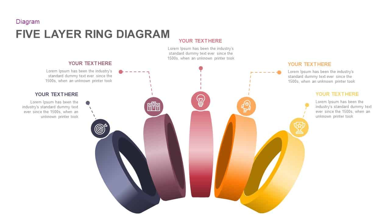 5 layer ring diagram PowerPoint template and keynote