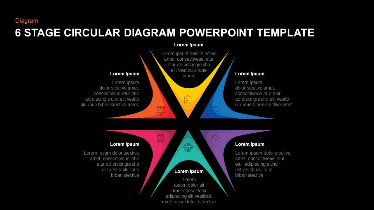 6 Steps Circular Diagram PowerPoint Template and Keynote