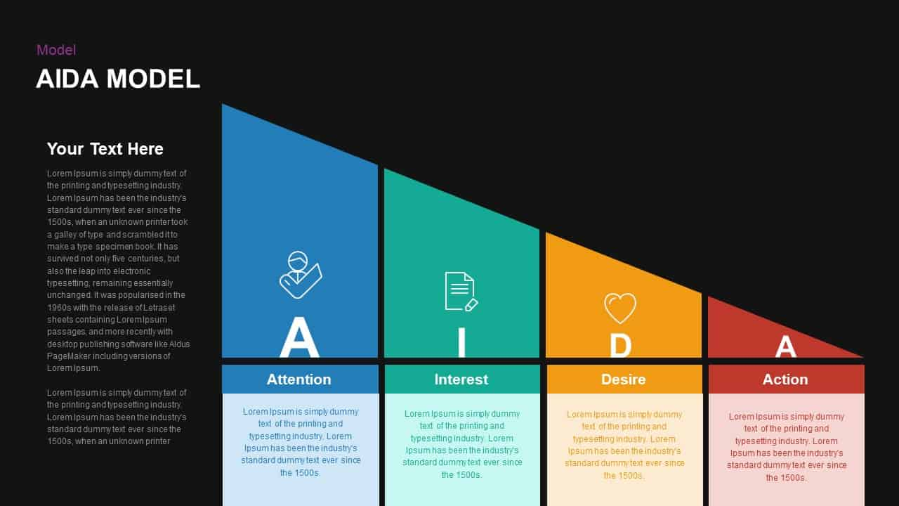 AIDA Diagram for PowerPoint and Keynote