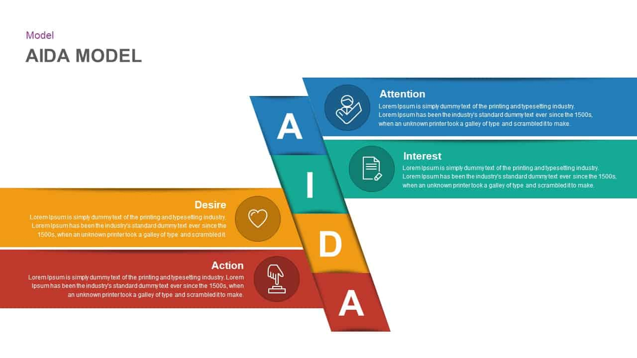 AIDA Model PowerPoint Template and keynote