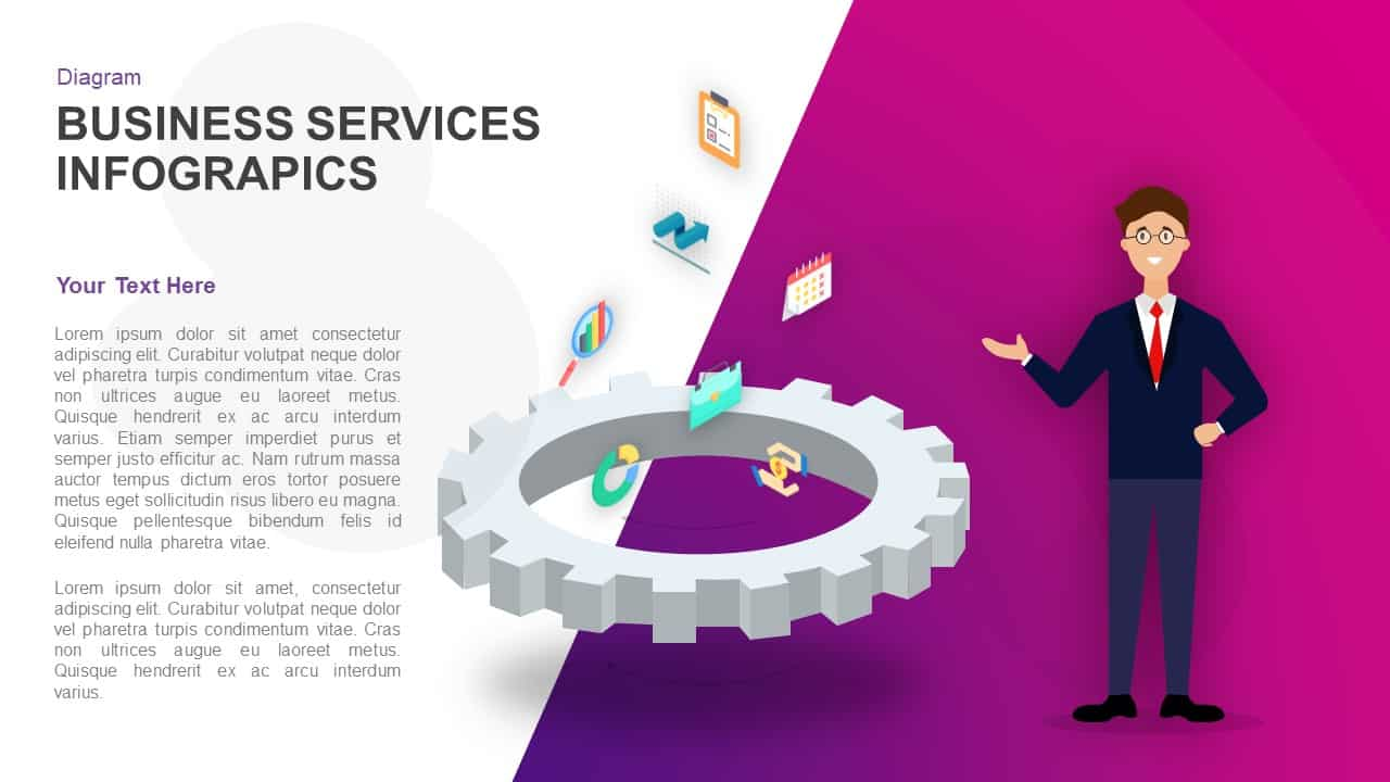 Business Services Infographics PowerPoint Template