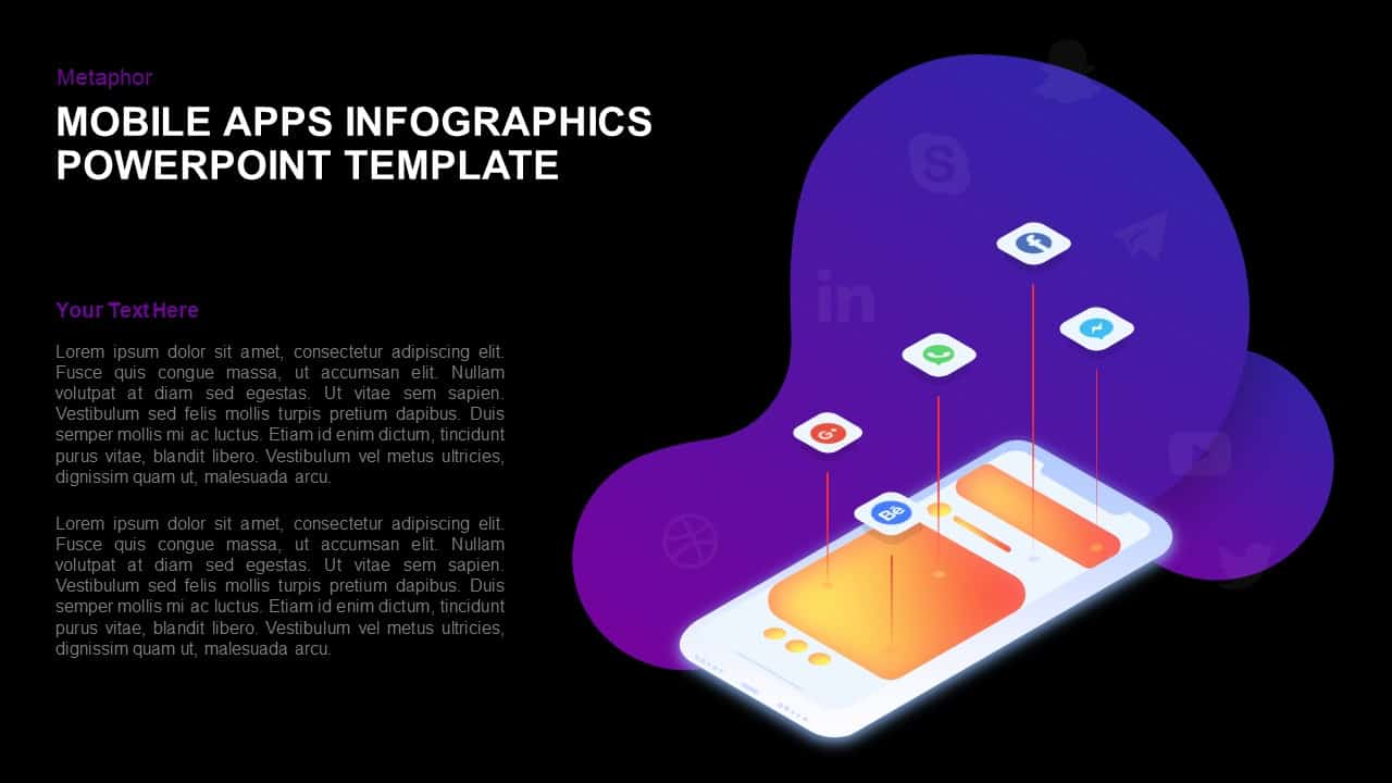Mobile Application Template for PowerPoint Presentation