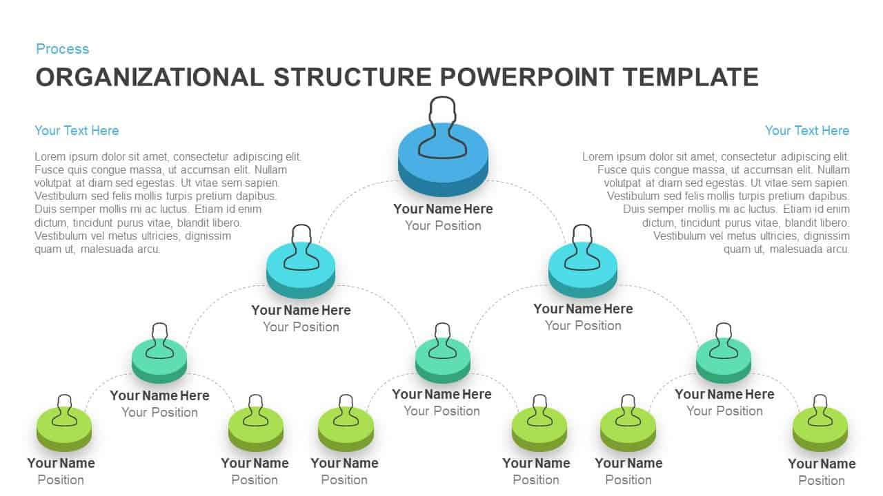 Organizational structure PowerPoint template and Keynote