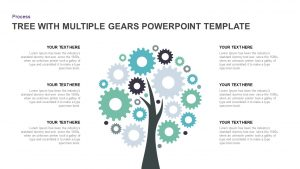 Tree Diagram PowerPoint template with Multiple Gears